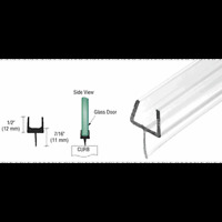 Crl One-piece Bottom Rail With Clear Wipe For 1/2 Glass - 32-5/8 In Long