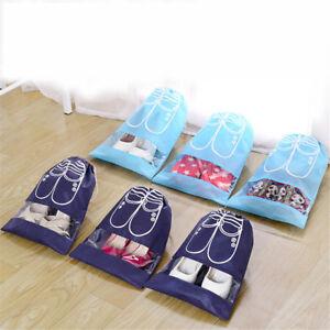 Kordel-Tasche-Reise-Aufbewahrungstasche-Kleidung-Gepaeck-Taschen-Schuhbeutel-ZP
