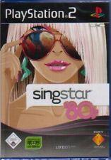 Playstation 2 SINGSTAR 80s Karaoke Singen Neuwertig