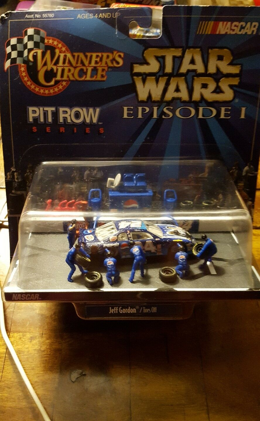 JEFF GORDON Episode I & III STAR WARS [LOT of 2]  Pit Row Series  Action Pepsi