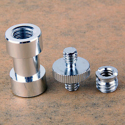 "1/4"" 3/8"" Tripod Screw to Light Stand Umbrella Camera Holder Adapter"