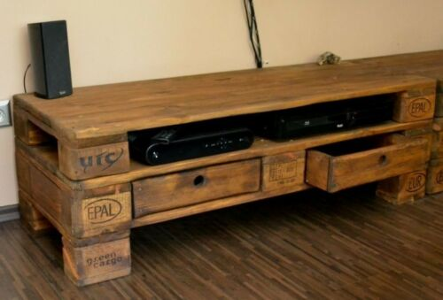 Tv möbel aus europaletten  Kommode / Sideboard / TV - Bank aus Europaletten | eBay