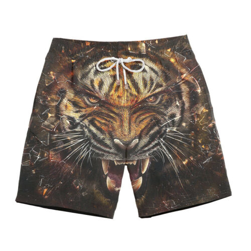 3D Stylish Animal Print Men Summer Casual Trunks Beach Party Surfing Soft Shorts