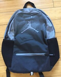 cbdd17b4a2 New NIKE AIR JORDAN Jumpman Backpack School Bag Laptop Cool Gray 9A1836-K26