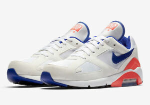 outlet store 2bafe e32c8 New Women's Nike Air Max 180 White Ultramarine Solar Red Size 7 ...