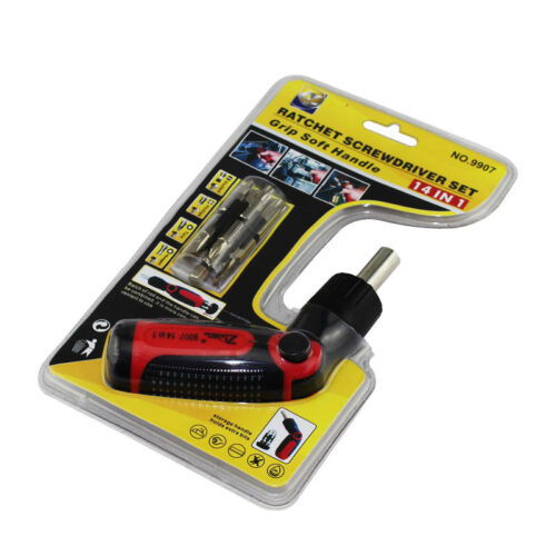 14 In 1 Screwdriver Tools Multi-function Rotating Head Ratchet Set