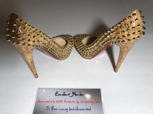 9 38 Christian Louboutin Grootte 5 140 Spikes Us 88 Conditie 10 Bianca 1 2 cL35q4ARj