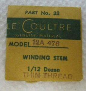 VINTAGE-NOS-WATCH-PART-32-LE-COULTRE-MODEL-12A-476-WINDING-STEM-THIN-THREAD