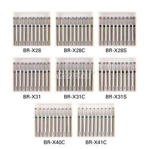 AZDENT Dental Diamond Burs Coarse/Medium FG 1.6mm for high speed handpiece
