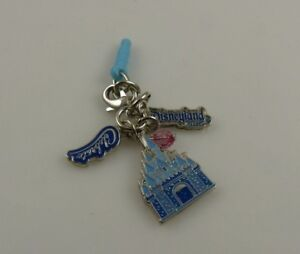 Disney-Disneyland-60th-diamond-celeb-castle-cell-phone-charm-ear-cap-dust-plug