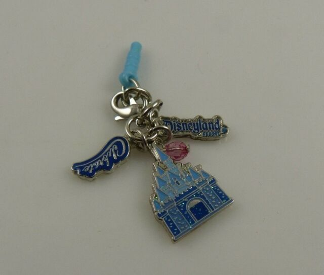 Disney Disneyland 60th diamond celeb castle cell phone charm ear cap dust plug
