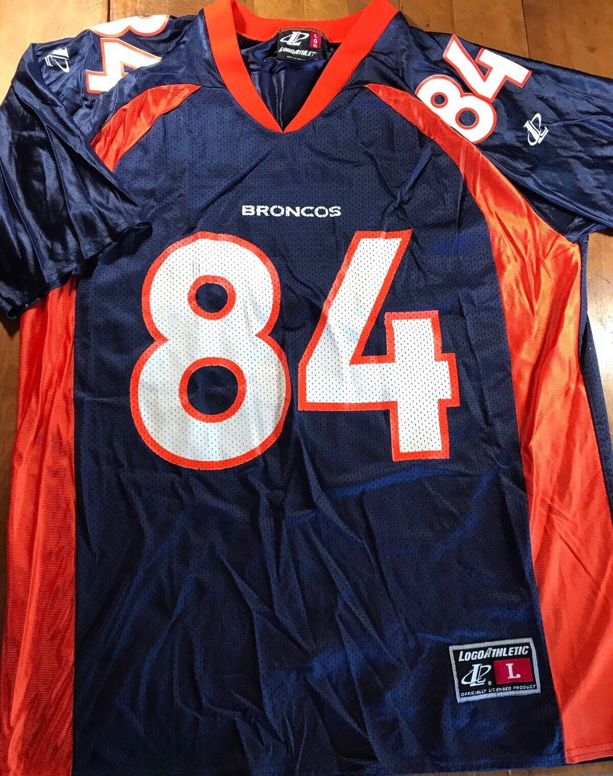 Vintage Denver Broncos #84 Shannon Sharpe Jersey Men's Size Large Logo Athletic