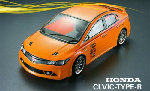 RC 1//10 Honda Civic FD2 Type R Car 195mm Body Shell  Fit Yokomo HPI Tamiya