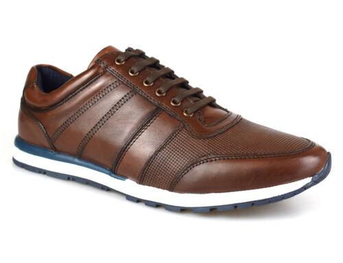 Argent Street London Melton En Cuir Marron Chaussures De Loisirs Gratuite au Royaume-Uni p/&p!