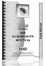 Hough Hah Pay Loader Parts Manual Catalog