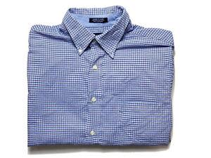 Chaps-by-Ralph-Lauren-Mens-Shirt-Size-L-16-Long-Sleeve-Button-Up-Classic-Fit