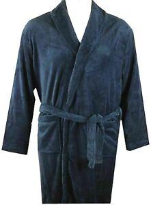BIG MENS Navy Espionage Fleece Dressing gown  2xl,3xl,4xl,5xl,6xl,7xl,8xl