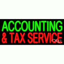 New Accounting Amp Tax Service 32x13x3 Real Neon Sign Withcustom Options 11346