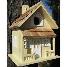 GIALLO Country Cottage Bird House Bird ATTIRARE UCCELLINI Sonno Nido di nidificazione