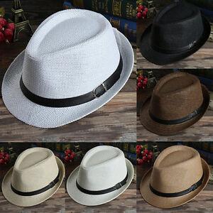 Unisex-Summer-Beach-Hat-Sun-Jazz-Panama-Gangster-Cap-Men-Women-Trilby-Fedora