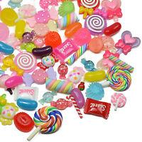 10, 25pcs Resin SWEETS & CANDY Decoden Flatback Cabochons Set/Mix Kawaii Kitsch