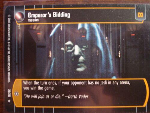Star Wars TCG ESB Emperor/'s Bidding