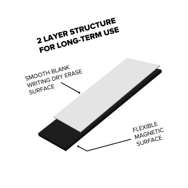 dry erase magnetic strips  1 inch x 25 feet tape roll