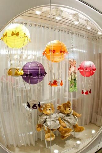10er Papierlaterne Lampion Papierlampion Lampenschirm Party mit LEDs Dunkellila