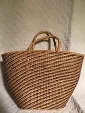vintage wicker woven straw rattan Carefree Sirco Beach hand bag purse tote