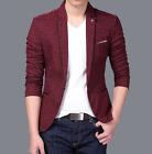 Mens Blazer Jacket Adults Fashion Design Smart Slim-Fit Blazer Coats Suit Casual