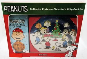 Peanuts Collector Plate Chocolate Cookies Charlie Brown Holiday