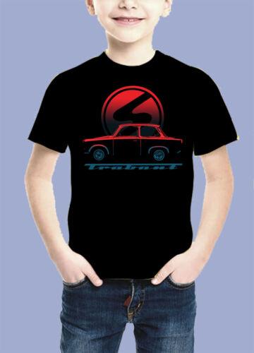 Trabant IFA DDR Auto Pkw Logo Bambini T SHIRT BIANCA