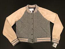 New Bar Lll Boston Womens Bomber Varsity Jacket Coat Large