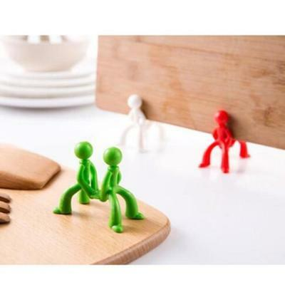 Kitchen Villain Man Pose Creative Cutting Board Rack Chopping Stand Holder Tool