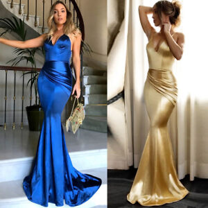 Image Is Loading Wedding Evening Party Formal Long Maxi Dress Women