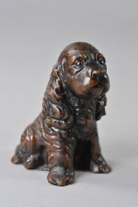 Traditional-Priory-Castings-Characters-Brown-Sitting-Spaniel-Dog-Ornament-Gift