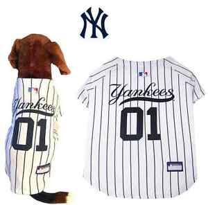 MLB Pet Fan Gear NEW YORK YANKEES Dog Jersey Dog Shirt for Dogs BIG ... f20bc9455d5