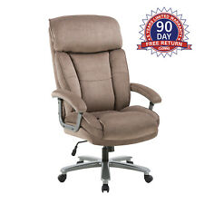 Clatina Upholstered Swivel Executive Chair Home Office For 400lbs Bifma Certifie