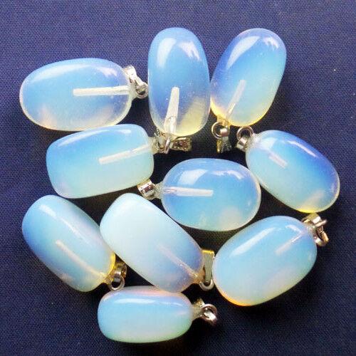 LX-138 20 Pcs Mixed Gemstone Tumbled Pendant Bead Please select material