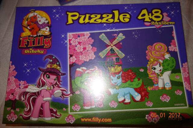 Filly Witchy Puzzle 48 teile Windmühle von Noris NEU