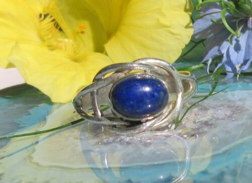 Ring Lapislazuli Stone of Friendship Knot Sterling Silver 925
