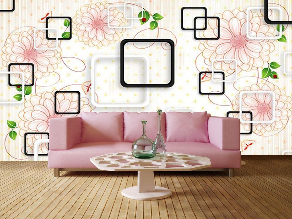 Flowers Posture 3D Full Wall Mural Photo Wallpaper Printing Home Kids Decor