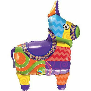 MEXICAN-BALLOON-40-034-MEXICAN-FIESTA-PINATA-QUALATEX-FOIL-BALLOON