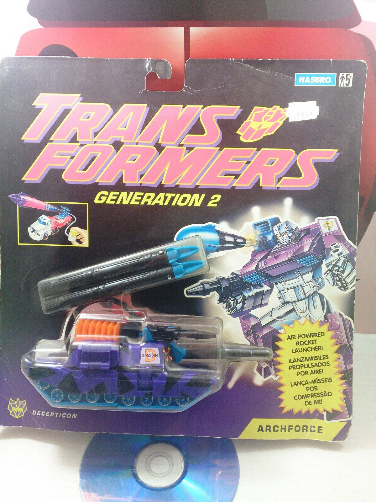 Transformers G2 archforce Europea Megatron Decepticon Figura de Acción 1993 Rara