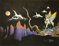 Authentic Frank Frazetta Print dream Flight 17 X 24 - 126