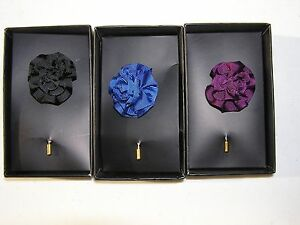 New jos a bank 100 silk flower lapel pin in navy black purple image is loading new jos a bank 100 silk flower lapel mightylinksfo
