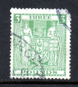 New-Zealand-1931-3-green-F164-Arms-fine-used-corner-fault-CV-350-WS12374