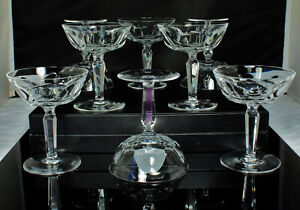 8-WATERFORD-SHEILA-Champagne-Sherbet-Glasses-CUT-CRYSTAL-4-75-034-4oz-SUPERB