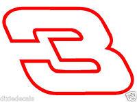 6 Austin Dillon Dale Earnhardt Number 3 Richard Childress Racing Window Decals