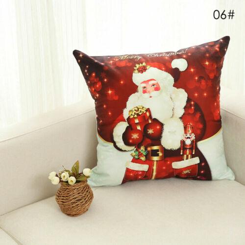 Christmas Sofa  Home  Cover  Cushion Linen  Throw  Cotton  Xmas Gift